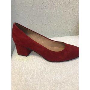 J Jill Classic Pump Heels Shoes Size 7M Red Suede